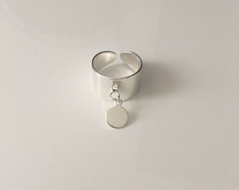 Silver brass Locket ring