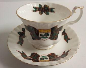 Royal Albert England Prince Edward Island Tartan Tea Cup and Saucer