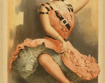 Kickette de Lingerie in Lehar's The Merry Widow - poster from 1908 for Joe Weber's Burlesque version.