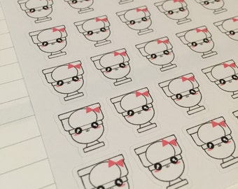 Toilet stickers, cleaning stickers, cute stickers kawaii stickers, planner stickers, reminder stickers