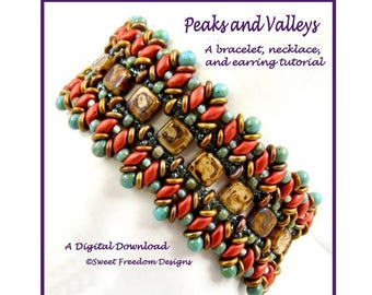 SuperDuo Tutorial for Necklaces, Bracelets, and Earrings, Beadweaving Pattern