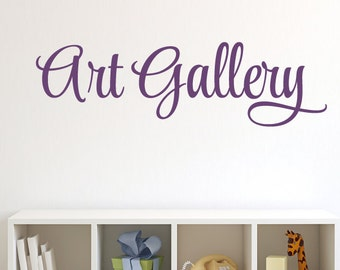 Art Gallery Wall Decal - Childrens Playroom Wall Decals - Playroom Decor - Bedroom Decor - Kid Wall Decal