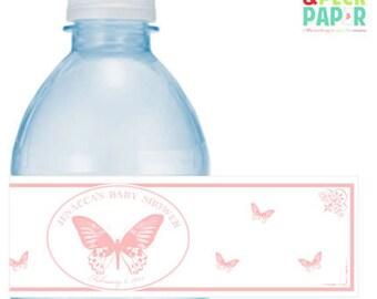 Butterfly Water Bottle Labels