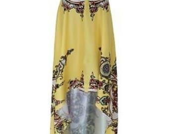 High-Low Flowing Skirt/Summer Skirt
