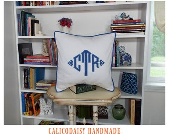 South Pointe Monogrammed Pillow Cover - 18 x 18 square