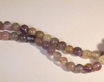 10 pearls in 4mm Amethyst gem stone