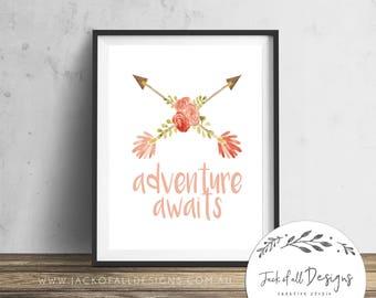 Adventure Awaits - Wall Art Print