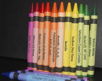 Chemistry Crayon Labels - set of 64