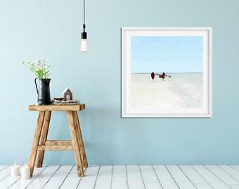 Zanzibar photo print Masai tribe print Minimalist beach photography Seaside art Beach house decor Ocean photo print  Nautical fine art print