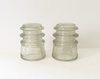 Clear Glass Insulators Armstrong Electrical Insulators Made in the USA Industrial Decor