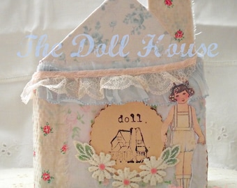 The Doll House Tutorial, junk journal, art book, paper craft diy, printable images
