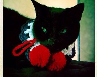 Collier de chien XS, XS collier pour chat, chien, chats, animaux, collier de votre animal, chien, collier chat, Crochet, rouge, blanc et bleu