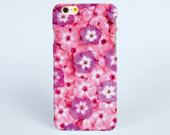 iPhone 8 case, iPhone X case, iPhone 7 plus case, iPhone 6s case tough case samsung galaxy s8 case, floral case Pink Morning Glory Flowers