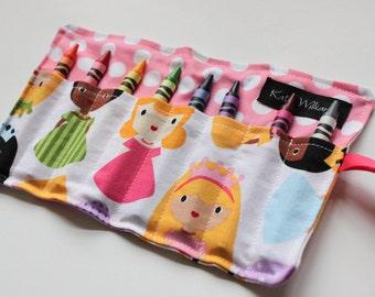 Girl Easter Basket Gift-Princess Crayon Roll-Kids Craft-Princess Party Favor-Kids Toy-Princess Party-Girl Birthday Gift