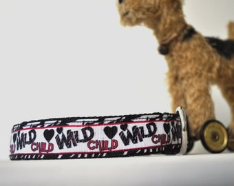 Dog Collar -A Real Wild Child -  50% Profits to Dog Rescue