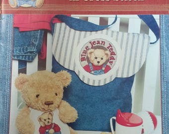 Blue Jean Teddy Snuggle Up counted cross stitch book