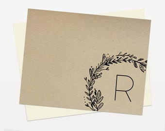 Personalized Cards (101) with Lined Envelopes / stationery - custom cards - stationery set - custom stationery - personalized stationery