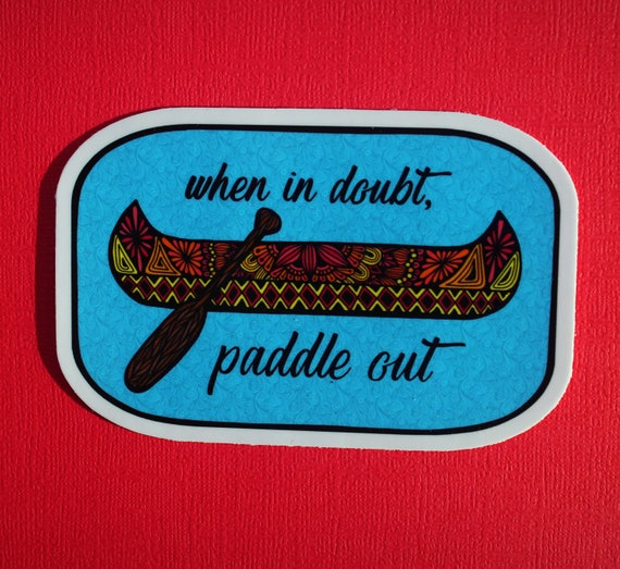 Paddle Out Sticker