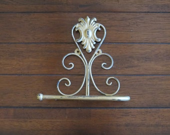Metal Toilet Paper Holder / Antique Gold or Pick Color/ Shabby Chic Bathroom Accessories / Tissue Holder / TP Hanger/ Cottage Chic Bathroom