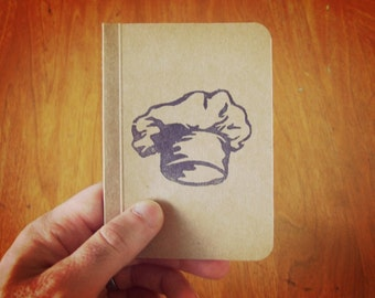 Chef Hat Notebook, Cooking Journal, Original Handmade Mini Diary and Jotter, Recipe Notebook, Cooking Notebook