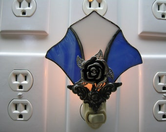 Victorian Fan Stained Glass Night Light