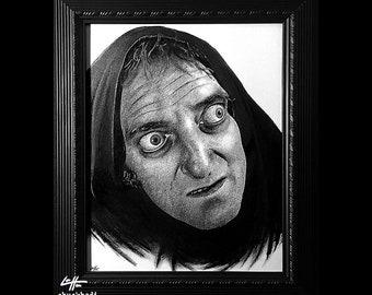 Igor - Original Drawing - Marty Feldman Young Frankenstein Gene Wilder Peter Boyle Monster Creature Classic Spooky Gothic Halloween Pop Art