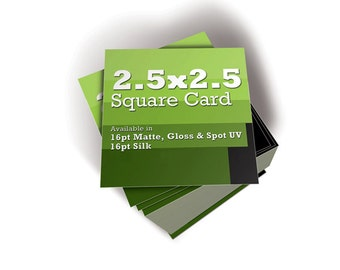 """Set of 250  -  2.5""""  x  2.5"""" Square Business Cards"""