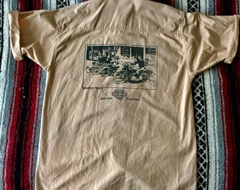 Vintage Harley-Davidson Printed Button up