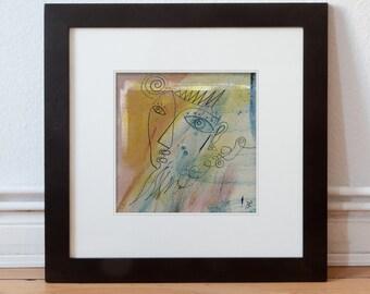 Abstract original Image 15 x 15 cm (5.9 x 5.9 inch)