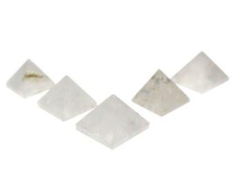 5 (FIVE) Small Crystal Quartz Pyramid -- Pyramid Shaped Crystal Quartz Stone - Crystal Quartz Stone Pyramid - Reiki RK50B16b-13