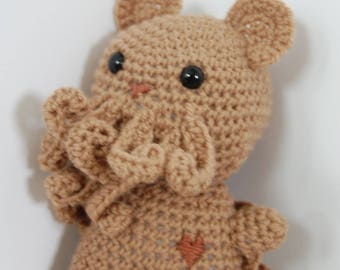 Cthulhu Bear. crochet amigurumi mini