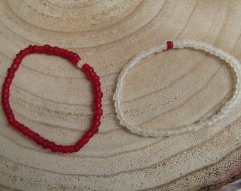 Friendships bracelets seaglass beads