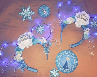 Queen Elsa inspired Minnie Mouse ears