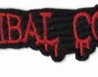 Cannibal Corpse Dripping Blood Logo Embroidered Patch /  Iron On Applique