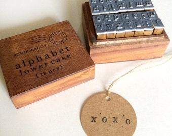 alphabet rubber stamp - stationey stamp - wedding diy favor stamp - wooden stamp - cardmaking stamp - scrapbooking stamp - packaging stamp