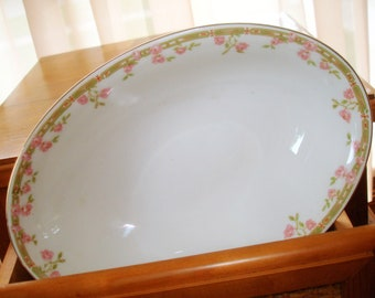 Bavarian Serving Bowl Vintage Manufacturer Z S & Co. Oval Shape Discontinued Pattern in Excellent Condition (See Matching Platter)