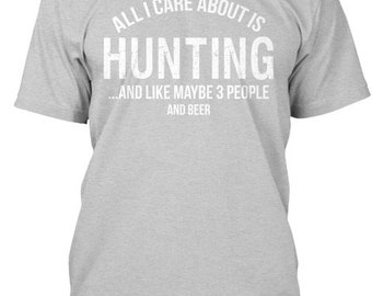 Care About Hunting Hanes Tagless Tee Tshirt