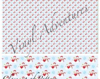 Heat Transfer Vinyl, Christmas Holiday Snowman Snowmen Pattern HTV, 1 Sheet, Siser Easyweed