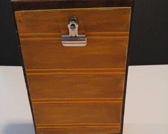 Wood Block Photo Holder -Vertical