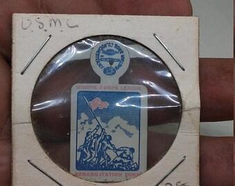 Spring Sale Vintage WW2 USMC Iwo Jima Marine Corps League Pin