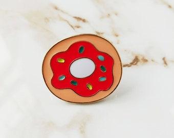 Enamel Donut Pin // Summer // Food // Treat