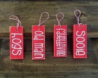 Set of 4 Arkansas Ornaments/ Gift Tags