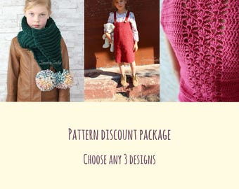 Pattern Discount Package CHOOSE ANY 3
