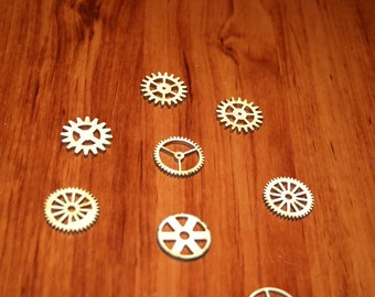 7 Laser Cut Wood Gear Pieces- five sizes