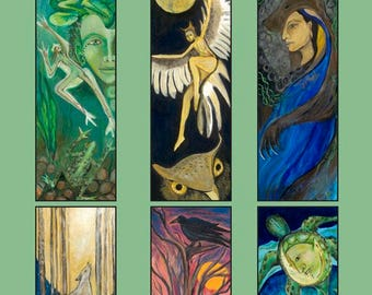 Totem Series Card Bundle, one each of all 6 Greeting Cards from Jennifer Kunin's Totem Series.