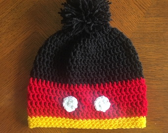 Adult sized Mickey Mouse themed Slouchy Beanie