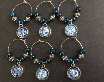 Cabochon Delights Wine Glass Charms
