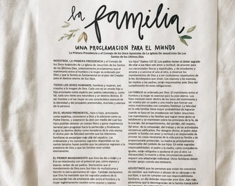 Spanish The Family Proclamation to the World