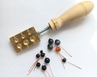 Herramienta de Murano: latón beadroller /marver / modelador para postes de madera y el headpins