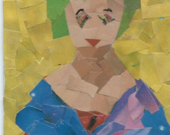 Original ACEO Collage- Sitting